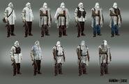 White masks concept design