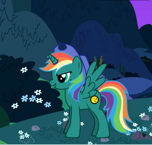 File:Teal Rainbow - The Baddest Alicorn in all of Equestria!.PNG