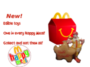 McDonald's edible Happy Meal toys ad
