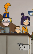 Buck and theresa sitting next to each other in class