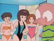 Happosai sees swimsuits