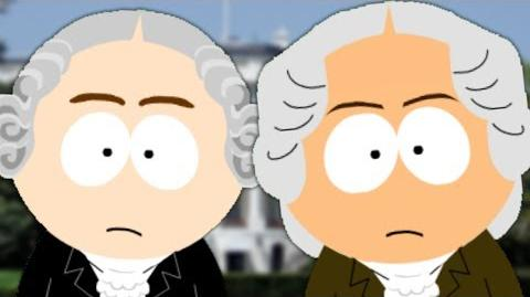 George Washington vs John Adams. Presidents Special. Epic Fanmade Rap Battles of History 44-1