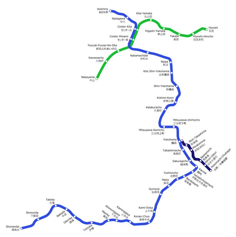 Yokohama Subway Map