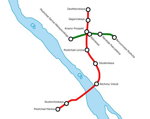 Novosibirsk Metro Map