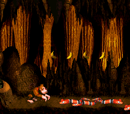 File:Reptile Rumble - Slippas in Pit - Donkey Kong Country.png