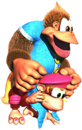 Kiddy on Dixie Artwork - Donkey Kong Country 3