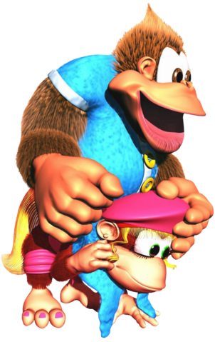 File:Kiddy on Dixie Artwork - Donkey Kong Country 3.png