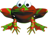 Winky the Frog Artwork (Donkey Kong Country)