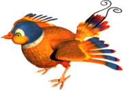 Parry the Parallel Bird Artwork (Donkey Kong Country 3)