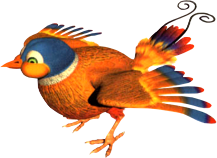 File:Parry the Parallel Bird Artwork (Donkey Kong Country 3).png