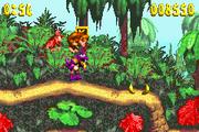 DK Attack Jungle Hijinxs - Purple Kritter defeated