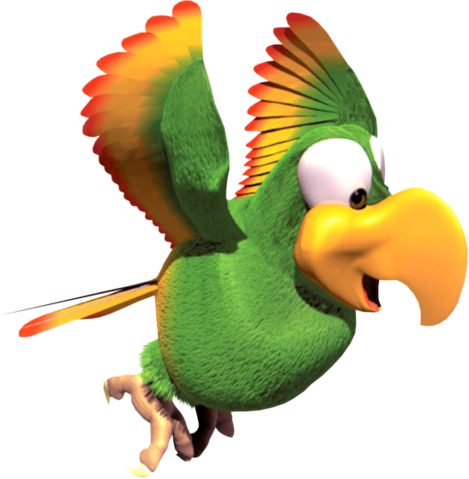 File:Squawks Artwork - Donkey Kong Country 2.png