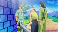 Galein gives Shiba a sword