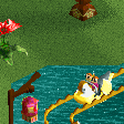 Mandarin Duck Water Ride RCT2 Icon