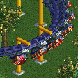 Lay-down Roller Coaster RCT2 Icon