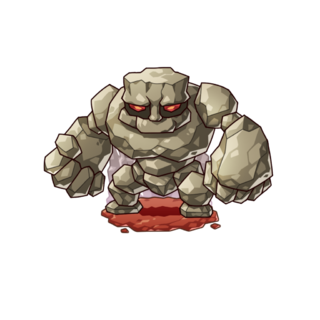A Rock Golem in the mobile game