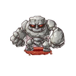 A Stone Golem in the mobile game