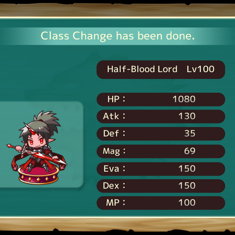 Your MC as a Half Blood Lord in the mobile game