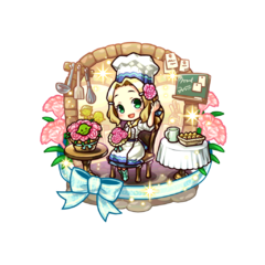 Alma (Confectionery of Mother Heart) as a Demon Child's Holy Mother in the mobile game