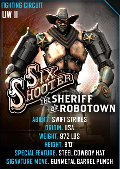 Image - Sixshooter card.jpeg | Real Steel Wiki | FANDOM ...