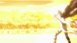 Byakuran Blown Away By Tsuna's Flames