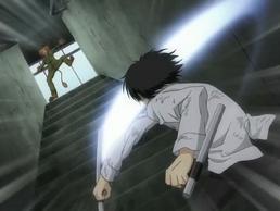 Hibari defeats Ken