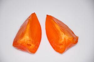 Ripe Hachiya Persimmon Slices 5