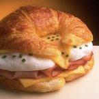 Egg & Ham Topped Croissant