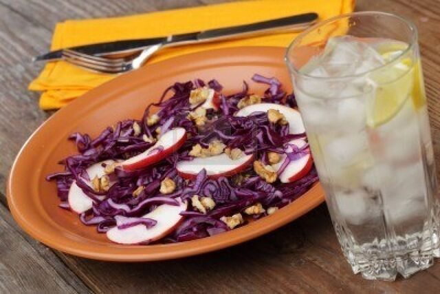 File:6286155-salad-with-red-cabbage-apples-and-walnuts-on-a-rustic-plate.jpg