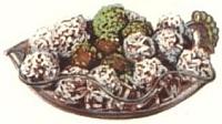 Almond fondant balls