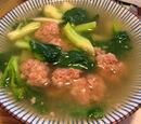 North Korean Meatball Soup