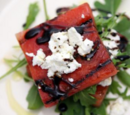 Grilled Watermelon Salad with Goat Cheese