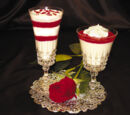 White Chocolate Mousse with Raspberry Sauce Using Stevia