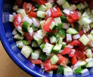 Cuke-tomato-salad