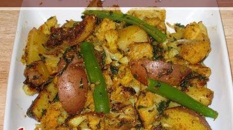 Aloo Gobi (Potatoes & Cauliflower) Recipe by Manjula, Indian Vegetarian Food