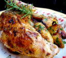 Roast Chicken with Herb Lemon Rub and Yogurt