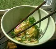 Cucumbers With Soy-sesame Dressing
