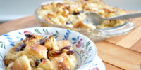 Bread Pudding with Dried Cherries