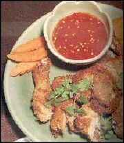 Barbecued chicken with sweet vinegar sauce