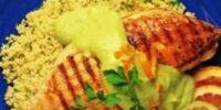 Grilled Chicken with Avocado-Citrus Sauce