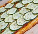 Zucchini and Phyllo Pizza