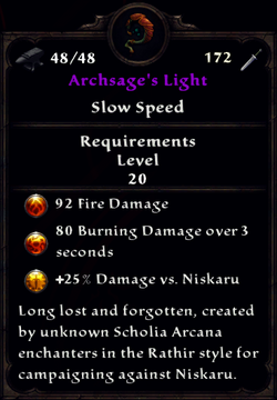 Archsage's Light Inventory