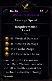 Warnir's Reward Inventory