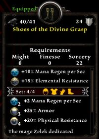Shoes of the Divine Grasp