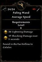 Paling wand stats