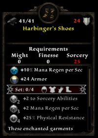 Harbringer's shoes