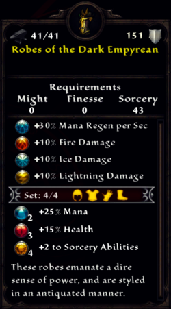 Robes of the Dark Empyrean Inventory