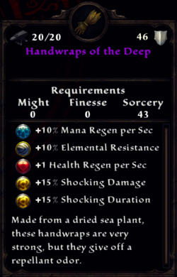 Handwraps of the Deep Inventory