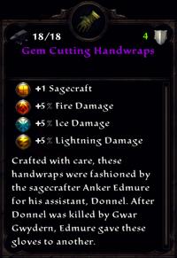 Gem Cutting Handwraps Inventory