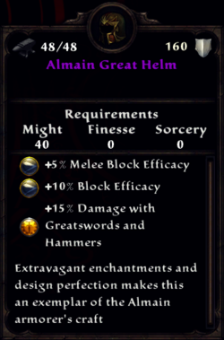 Almain Great Helm Inventory